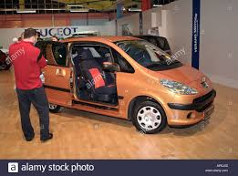Peugeot 1007 People Carrier at a Motorshow Stock Royalty