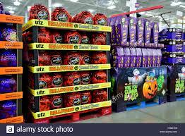 Utz Halloween Pretzels by Sweets On Display For Halloween Treats In Supermarket Stock Photo