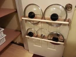 PVC and Oak Pot Lid Rack for the Pantry Door