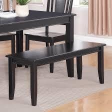 Black Dining Room Bench