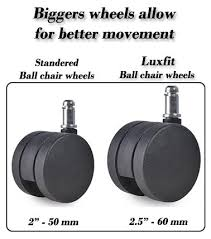 Yoga Ball Office Chair Amazon by Amazon Com Luxfit Exercise Ball Chair Black Sports U0026 Outdoors