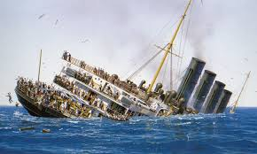 rms lusitania model sinking sinks ideas