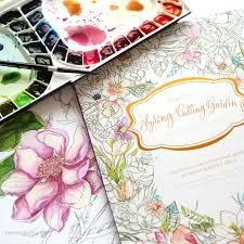 Kristy Is Back With Two More Watercoloring Books And Theyre Fantastic Sent Along The Spring Cutting Garden Book For Me To Play Its