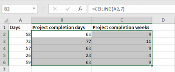 Ceiling Function Excel Example by Rounding Using Ceiling And Floor Functions In Excel U2013 Excel Bonanza