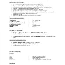 Testing Resume Sample For 3 Years Experience Best Of Qa Manual Tester Unique Automotive