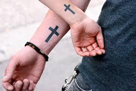 Couple Wrist Cross Tattooeven Though I Hate Tattoos