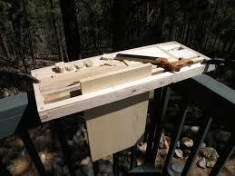 milkman u0027s workbench with wedge vises by pinebox lumberjocks