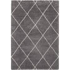 leonique hochflor teppich rechteckig 35 mm höhe rauten design weiche haptik wohnzimmer