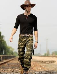 design fashion men s army style trousers camouflage printed baggy