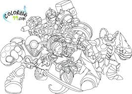 Skylander Hot Dog Printable Coloring Pages Giants Inspirational On Adults Swap Force Colouring Full Size