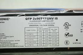 Universal 4 Lamp T12 Ballast by New Sylvania Osram Qtp 2x96t12 Electronic Fluorescent Lamp Ballast