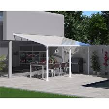 Palram Patio Cover Grey by Palram Olympia Patio Cover 3 X 5 46m White At Homebase Co Uk