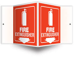 Fire Extinguisher Mounting Height Code by Accuform Signs Psp618 Projection Sign 3d Legend