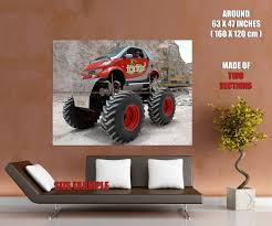 Smart ForFun2 Monster Truck Bigfoot Car Gigantic Print POSTER | EBay Webby Remote Controlled Rock Crawler Monster Truck Blue Buy Mousepotato Off Road Race 4wd 24ghz Worlds Faest Gets 264 Feet Per Gallon Wired 10 Genius Cversions Remo 1631 116 24g 40kmh Brushed Offroad Bigfoot Smax Go Smart Wheels Vtech Epic Monster Bugatti 4x4 Adventure Mudding And Christmas Buyers Guide Best Control Cars 2017 Picks Rechargeable 4wd 24 Ghz Rally Car Turned Truck Offroad Monsters Smart Driving Truck Leading Edge Novelty Shop New Bright 115 Full Function Jam Grave