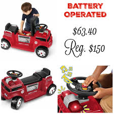 Walmart.com: $63.40 Radio Flyer Battery-Operated Fire Truck Seats ... Being Mvp Radio Flyer 25 Days Of Giveaways Battery Powered China Super Truck Toys Whosale Aliba Operated Bubble Toy Cars Shop Rite Fire Engine Truck With Snorkel Dtr Antiques Mini Pumper Rescue Bump And Go W Amazoncom Kid Trax Red Electric Rideon Toys Games 12volt Bryoperated Rideon Children Ride On Toy Shenqiwei 8027 Rc Car Rtr Kids Battery Operated Fire Engine In Castlereagh Livonia Professional Firefighters Unboxing Paw Patrol Marshall Ride On