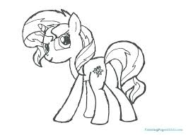 Coloring Pages Of Rainbow Dash My Little Pony Applejack And