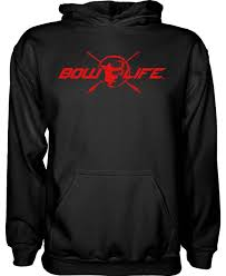 bow life center shot red black hoodie bowhunting pullover hoodie