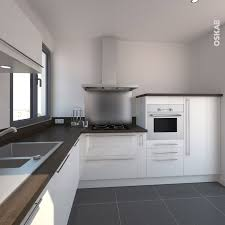 cuisine moderne et design cuisine blanche et bois moderne et épurée implantation en