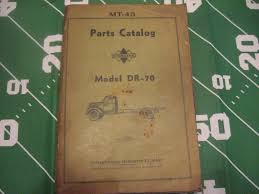 99 Vintage International Harvester Truck Parts IHC Model Dr70 Catalog Mt43 For