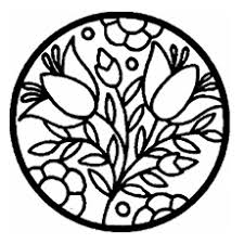 Circle With Flowers Pattern Coloring Page
