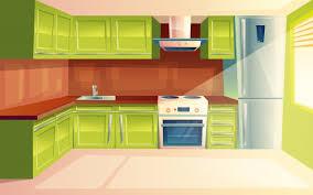 Interior Design Modern Kitchen Background 5 Stock Vektor Premium Vector Modern Kitchen Interior Background Template