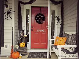 Halloween Door Decorations Pinterest by Halloween Porch Decorating Ideas Idolza