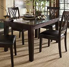 A America Montreal 132quot Rectangular Dining Table With 3 24quot Self
