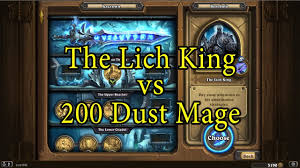 Exodia Deck List 2016 by Hearthstone The Lich King With A 200 Dust Mage Deck U2013 Gamevids