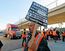 100 Trucking Strike Most Port Of Long Beach Los Angeles Truck Drivers End Strike