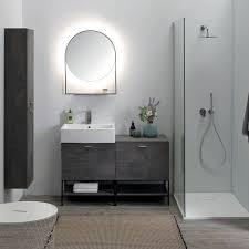 colavene volant composition 120 cm freistehendes badezimmer mit waschbecken schrank und spiegel