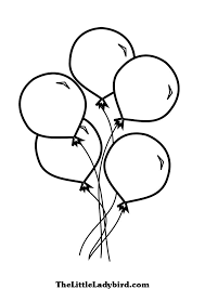 Colorful Balloon Coloring Sheet To Color
