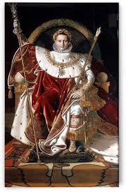 Napoleon On His Imperial Throne By Jacques Louis David