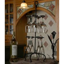 Under Cabinet Stemware Rack Walmart by Great Hanging Wine Glass Racks For Saving Space Wine Gifted