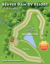Beaver Dam Rv Park Lot Plan