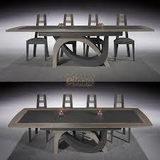 table salle à manger chêne massif de et céramique pied escargot