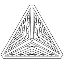 Pyramid Geometric Shape Coloring Pages