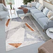 tapiso feyruz teppich kurzflor creme grau blau braun modern figuren design wohnzimmer schlafzimmer ökotex 240 x 330 cm