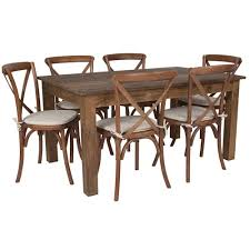 Flash Furniture Antique Rustic Farm Table Set With 6 Cross ... Ding Table 6 Chairs New 5 Piece Table Set 4 Chairs Glass Metal Kitchen Room Fniture Kitchen Simple Ding And Chair Set Black Incredible Size Medida Para Mesa Em Http And Ikea Clearance White Gloss Lenoir Brasilia Style Senarai Harga Homez Solid Wood C 38 Ww T Small Extending Tables Unique Elegant Square New Transitional 7pc Deep Finish Uph Seat Grand Mahogany Hard 68 Seater Kincaid Mill House With Monaco Rectangular Outdoor Patio Office Computer Chair Cover Task Slipcover