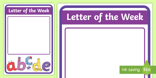 Letter of the Week A4 Display Poster New Zealand Class