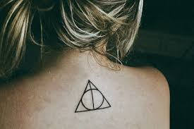 Girl Harry Potter Hipster Movie Tattoo Triangle