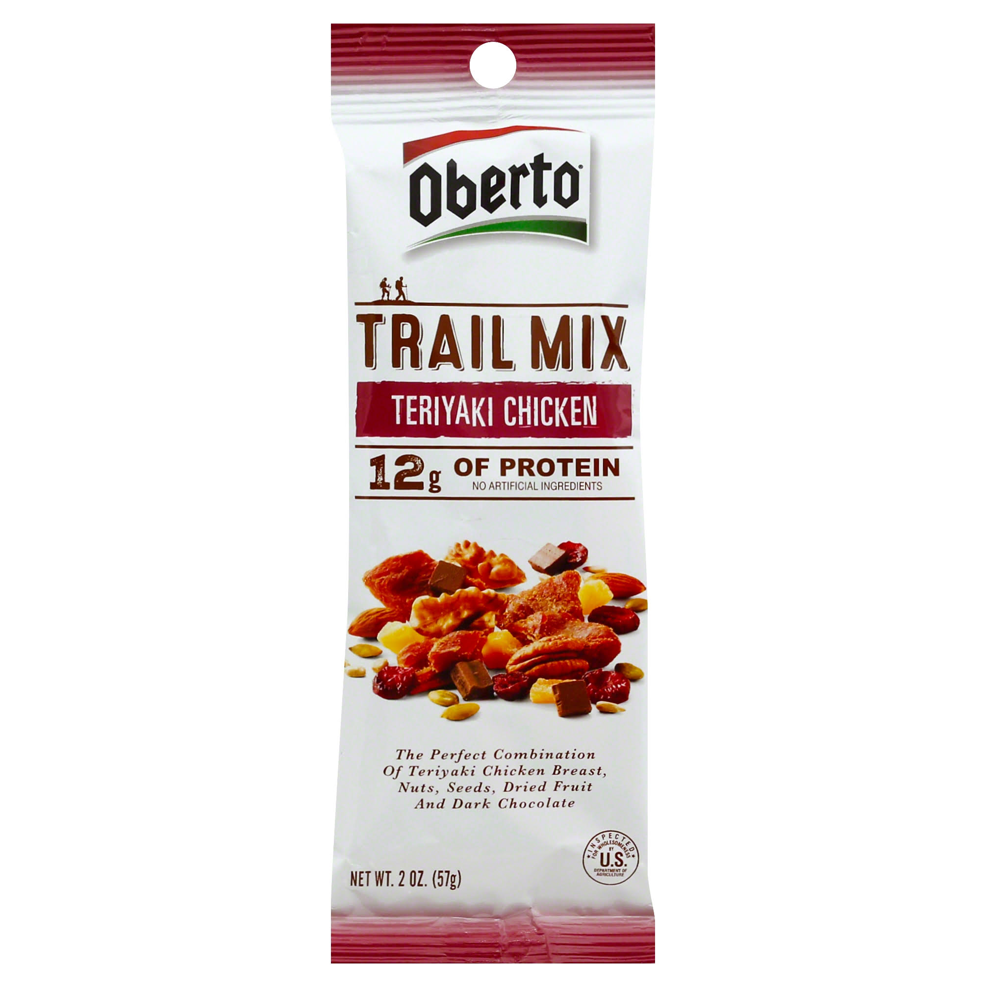 Oberto Teriyaki Chicken Trail Mix - 2oz