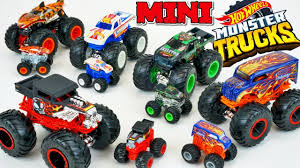 100 Hot Wheels Monster Truck Toys Minis Series 1 Collection Shark Attack Mud Jumping Playset