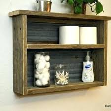 Bath Shelf Wooden Full Image For Rustic Naturally Weathered Reclaimed Wood Bathroom Kitchen Spice Rack