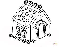 Click The House For Christmas Coloring Pages