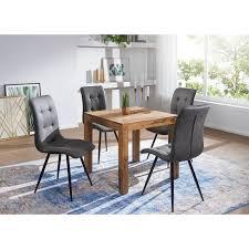 wohnling esstisch mumbai massivholz sheesham esszimmer tisch holztisch design küchentisch landhaus stil dunkel braun