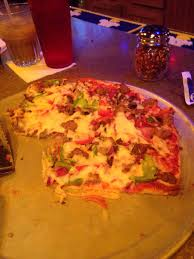 this pizza is great the house specialty big foot ten toppings