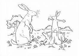 Guess How Much I Love You Big Nutbrown Hare Listen Carefully To His Son Coloring Pages