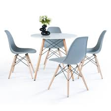 Paris 80 Cm Round Dining Table + 4 Chairs In White, White/Grey ... Kitsch Round Glass Table Set Of 4 Chairs Dfs Ireland Mcombo Mcombo Ding Side 4ding Clear Ingatorp And Chairs White Ikea Cally Modern Table With La Sierra Fniture Grindleburg 60 Woodstock Carisbrooke Barker Stonehouse Dayton 48 Upholstered Shop Hlpf5cap 5 Pc Small Kitchen Setding Hanover Traditions 5piece In Tan A Jofran Simplicity Chair Slat Back Pier 1 W Aptdeco Rovicon Lulworth Pedestal