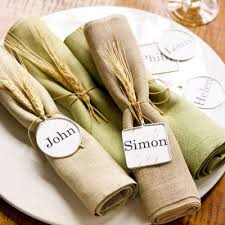 Napkin Rings And Place Holders In One So Rustic With The Wheat