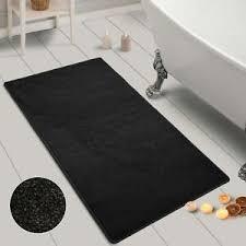 details zu badematte auf maß carousel in schwarz rutschfest badvorleger duschvorleger